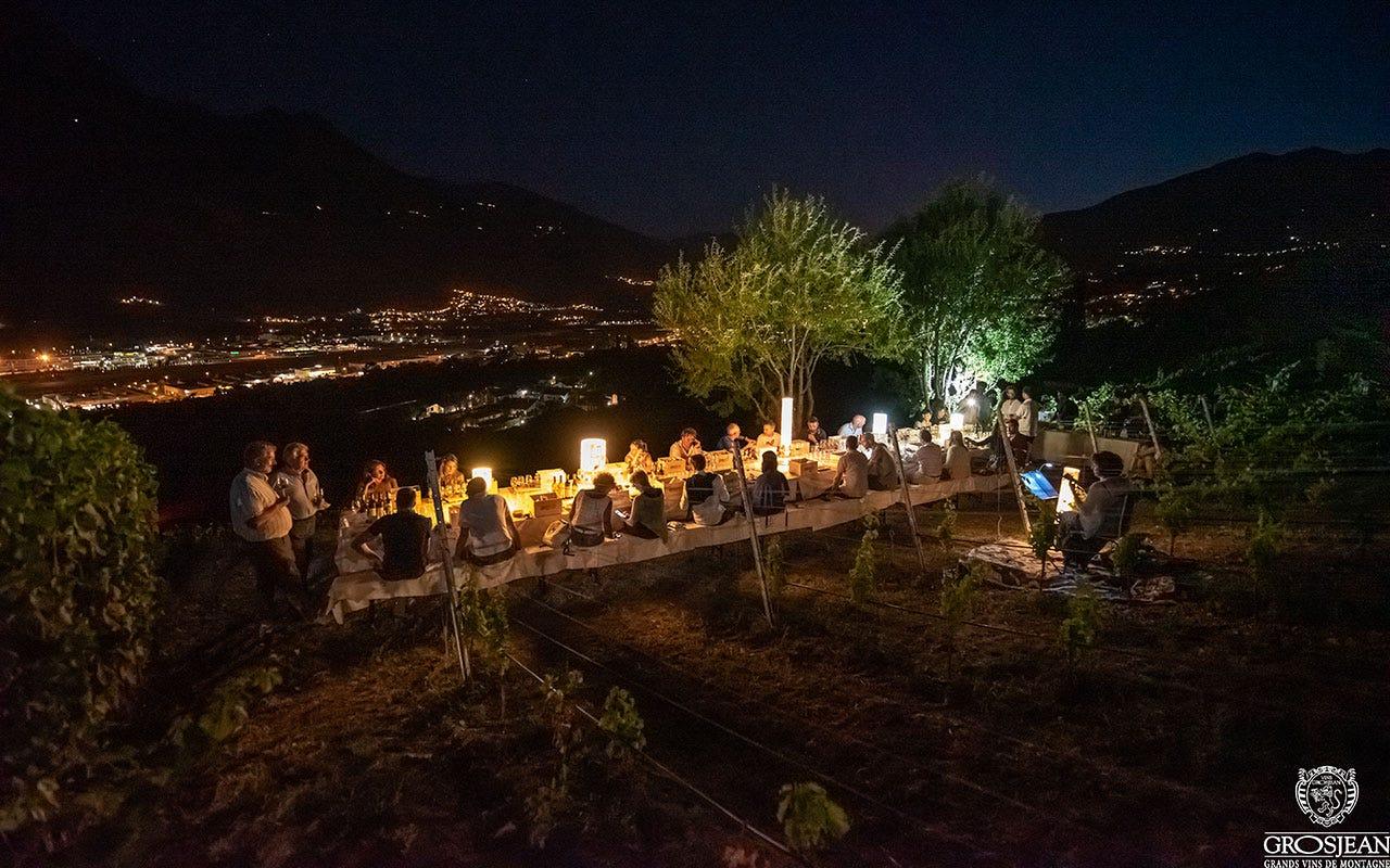 Le serate magiche di TraMonti diVini Aosta, Degustazioni ascensionali I TraMonti diVini di Grosjean Vins