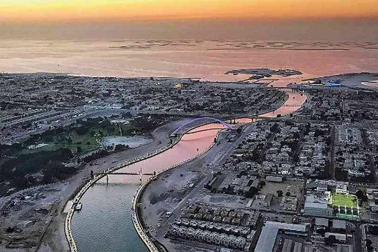 Un canale trasforma Dubai in un'isola Progetto realizzato in vista di Expo 2020