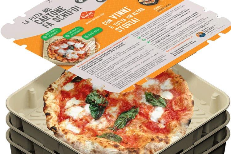 (Brevettato il Vinni Pizza Box Nuovo contenitore per pizza d'asporto)