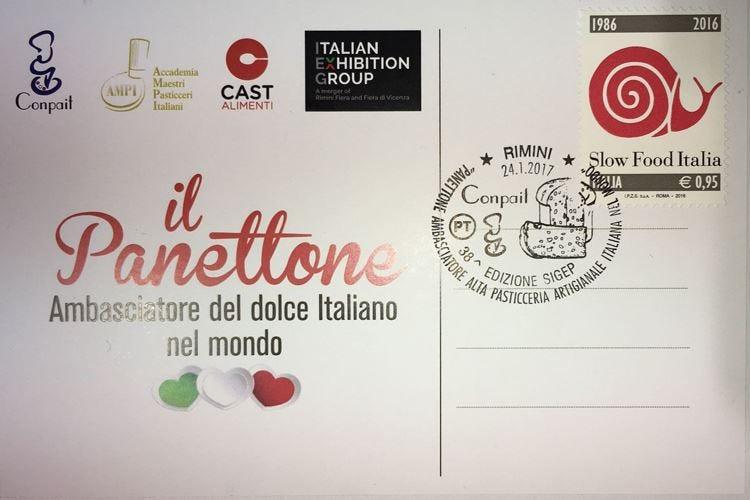 Un annullo filatelico celebra il panettone ambasciatore della pasticceria italiana