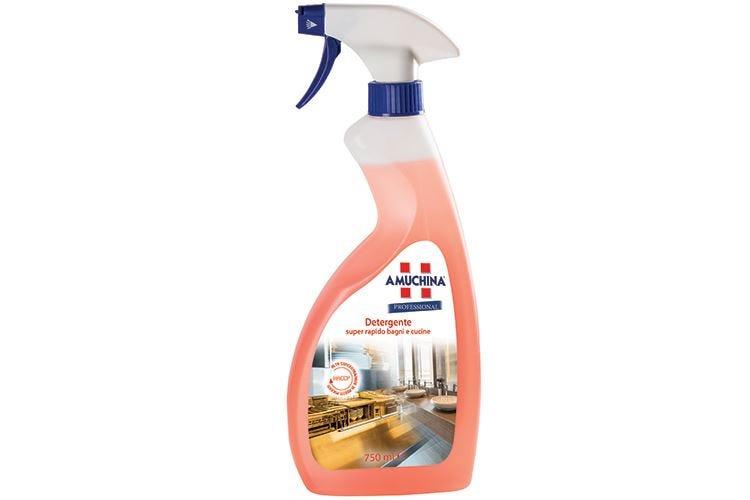 Bagni e cucine puliti a fondo con il Detergente super rapido