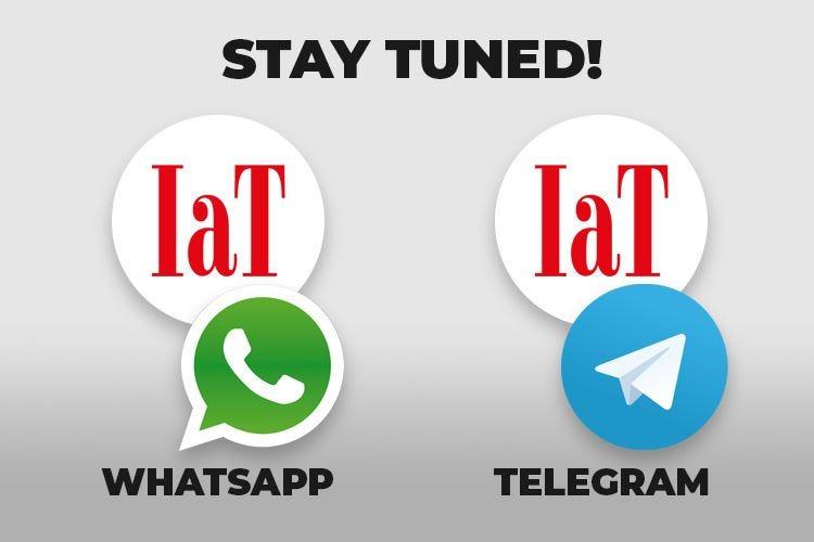 Le ultime news sul tuo smartphone IaT ora su WhatsApp e Telegram