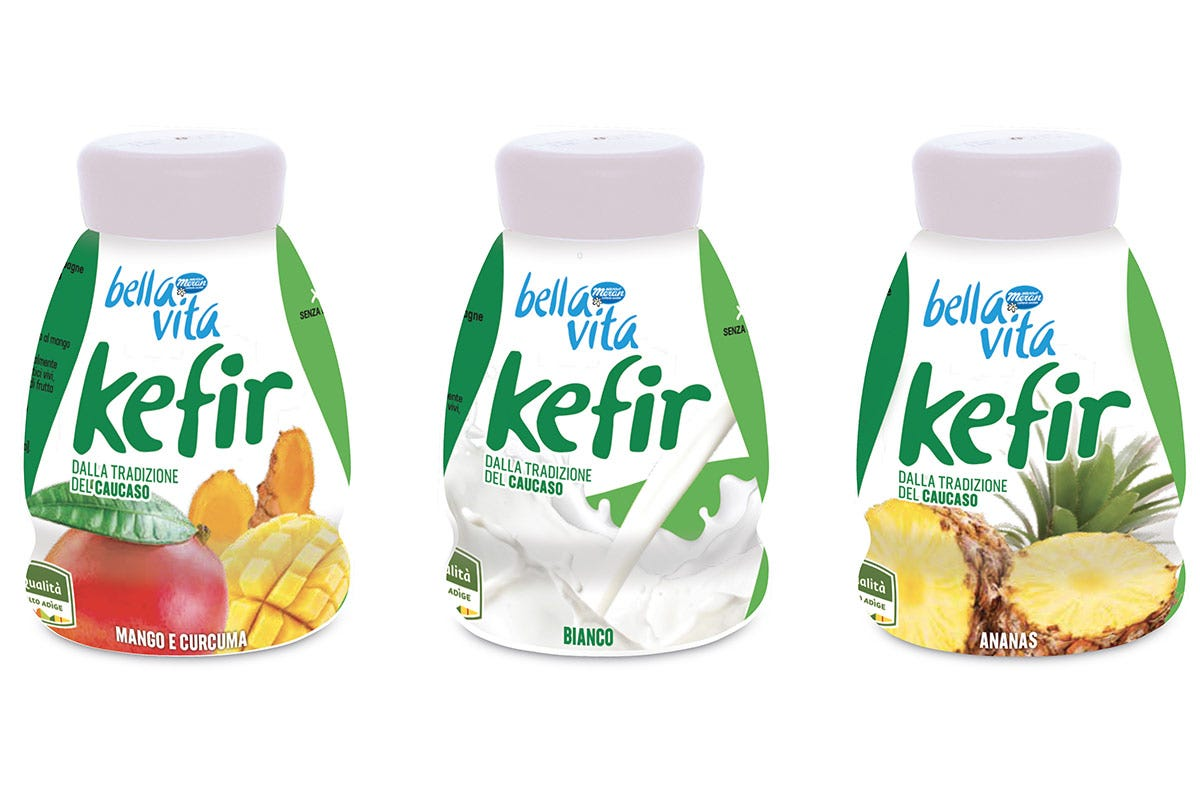 I tre gusti di Bella Vita Kefir drink Yogurt e drink base latte Tendenze tra gusto e salute