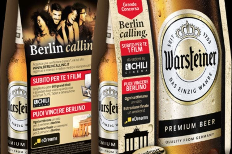Con birra Warsteiner si vola a Berlino Un concorso per chi acquista il tripack