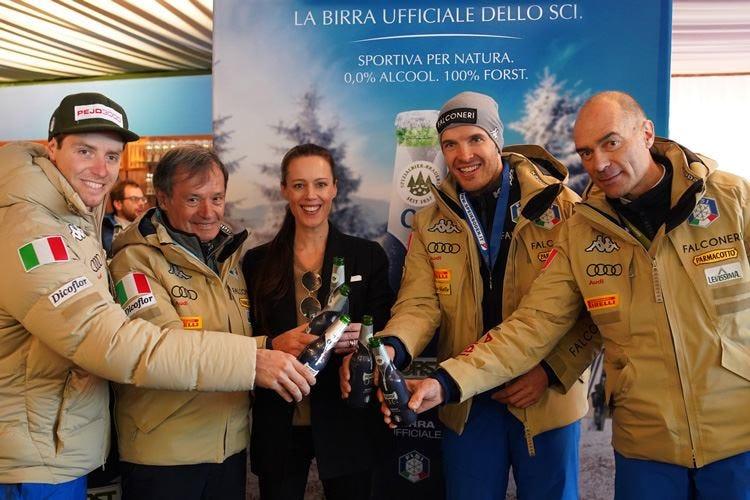 Birra Forst mette gli sci Dal 2020 vestirà gli atleti Fisi