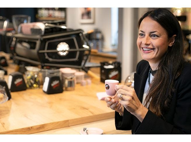 Il caffè è anche... rosa A tu per tu con Carolina Vergnano
