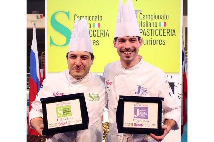 Campionati italiani di pasticceria Vincono Bertuzzi (senior) e Buosi (junior)