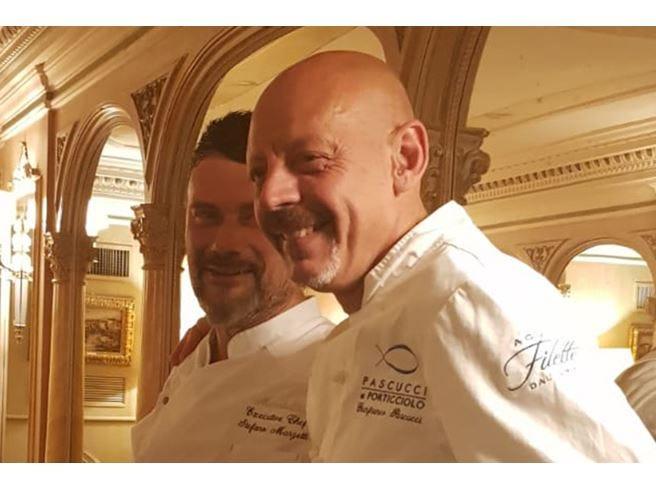 Chef Marzetti ospita Pascucci per una cena a 4 mani al Mirabelle