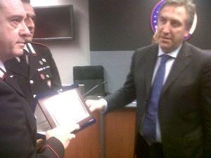 Una targa del Conaf ai carabinieriper i meriti nella lotta alle frodi