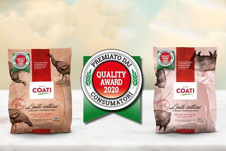 I consumatori scelgono Coati Al salumificio il Quality Award