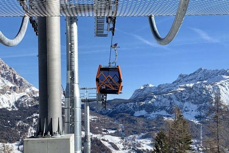 """Una """"Freccia"""" nel cielo di Cortina Inaugurata la nuova cabinovia"""