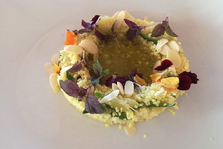 Couscous vegetariano con caviale di melanzane alla siciliana Couscous vegetariano con caviale di melanzane alla Siciliana