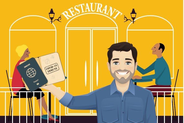 Entrare al ristorante come in un aeroporto? Il vaccino è come aver fatto il check-in