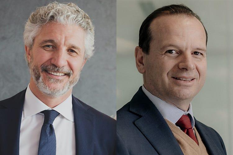 Alessandro Angelon e Vittorio Carducci Agostini Siram Veolia con Forno d'Asolo Un progetto di sviluppo sostenibile