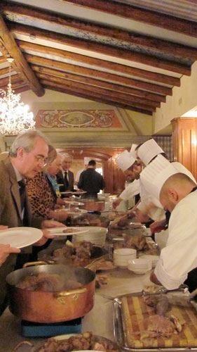 Il superbo bollito di Vittorio sulla tavola dei Buongustai bergamaschi