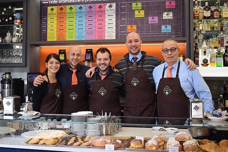 Il diagramma dei gusti di Caffè Milani all'Altro Bar di Vito De Feudis