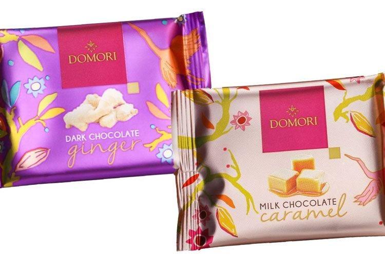 Domori, tavolette di cioccolato tascabili dalla confezione leggera e riciclabile