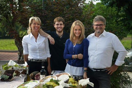 da sinistra: Silvana Ceschin, Marco, Anna ed Ernesto Balbinot