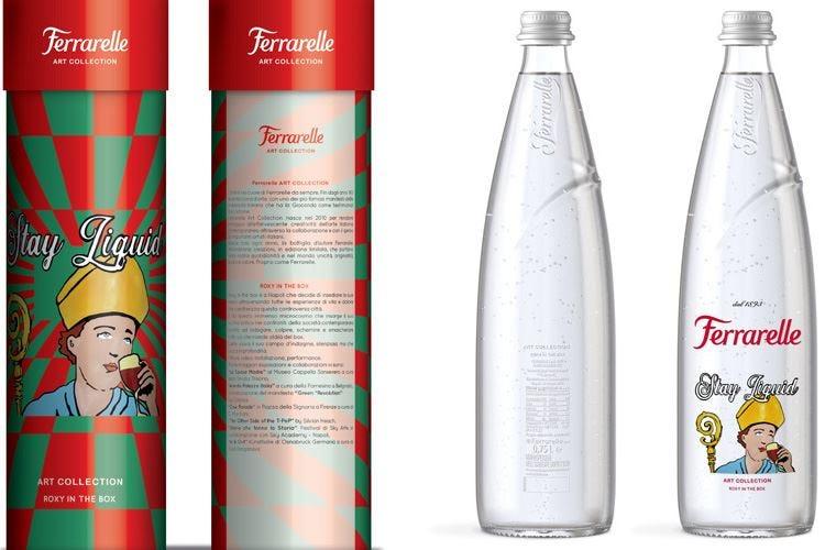 Opere d'arte sulle bottiglie La limited edition di Ferrarelle