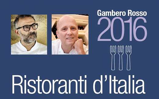 """Gambero, Bottura e Beck ancora al top Berton e Guida nuove """"Tre Forchette"""""""