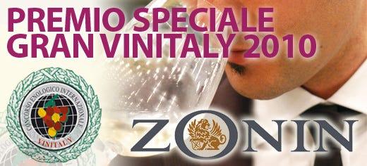 "La cantina veneta Zonin vince il premio ""Gran Vinitaly 2010"""