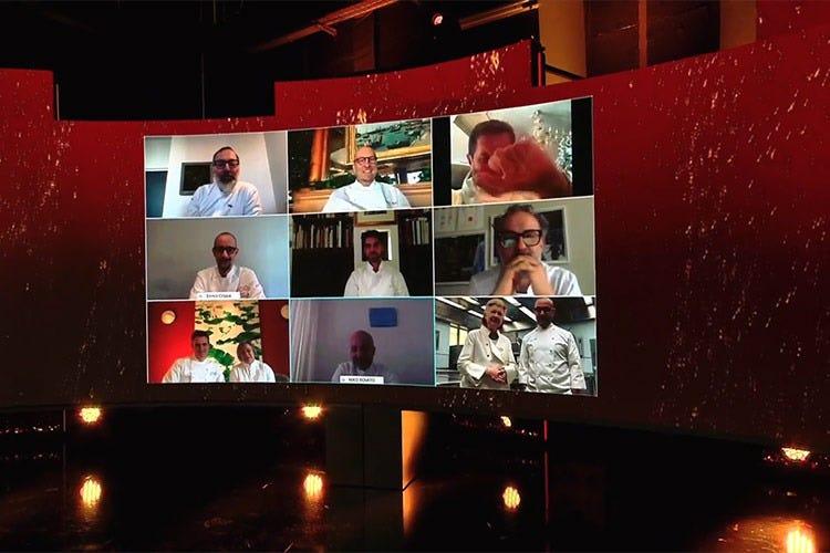 Gli chef collegati in digitale per la 66esima edizione della presentazione della Guida Michelin 2021 - Michelin, niente nuove tre stelle Due a De Santis, Metulio e Oldani