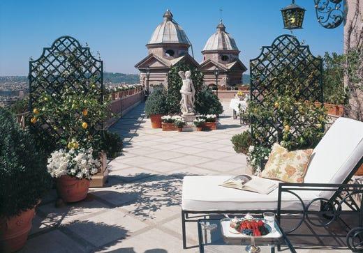 L\'Hassler Roma si rinnova Ristrutturata la Penthouse Suite - Italia ...