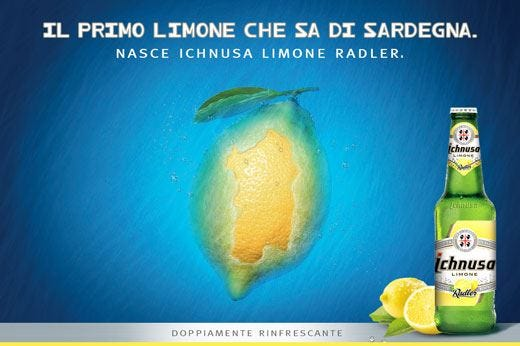 Ichnusa Limone Radler, must dell'estate Un gusto doppiamente rinfrescante