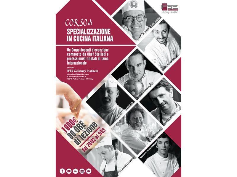 Corso Ifse dedicato alla cucina italiana 80 ore di lezione anche con cuochi stellati