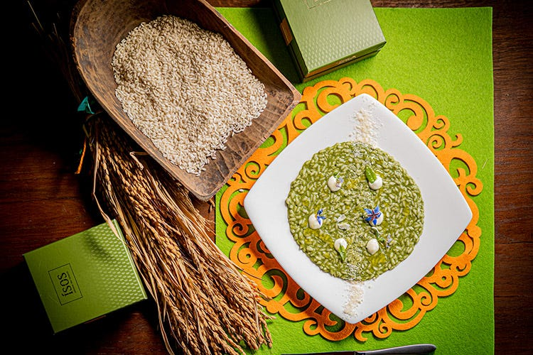 Perfetto per risotti mantecati oll'onda Isos il riso migliore d'Italia a prova di alta gastronomia
