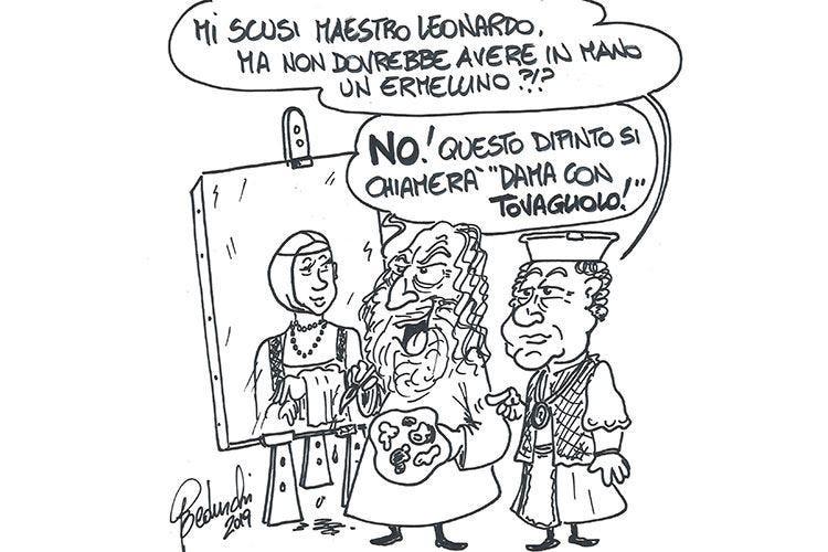 Leonardo precursore dei maitre Sua l'invenzione del tovagliolo