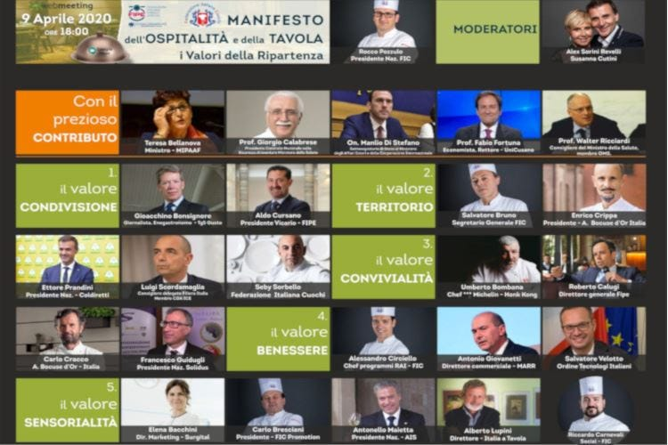 La ripartenza della ristorazioneIl Manifesto pubblicato a Pasqua