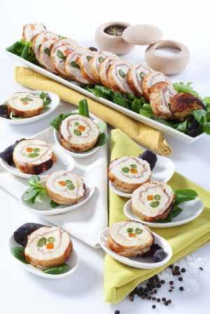 Mini rolata di pollo con prosciutto di Parma e verdurine - Italia a Tavola