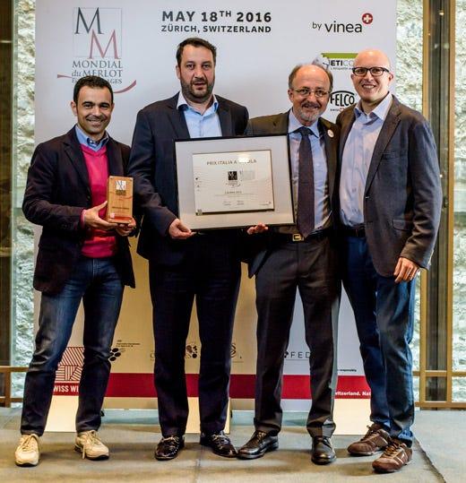 Il Lavinia 2012 della bergamasca Valba miglior italiano al Mondial du Merlot
