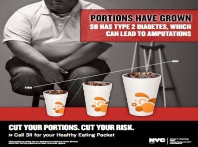 Porzioni troppo cresciute nei fast food A New York la campagna anti obesità
