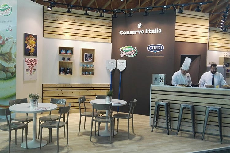 Il food stand di Conserve Italia a Beer&Food Attraction (Le novità di Conserve Italia a Beer&Food Attraction)