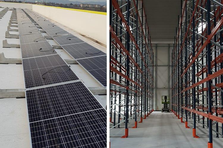 Grande attenzione all'ambiente con l'installazione dell'impianto fotovoltaico - Notevole capacità di stoccaggio grazie alle nuove scaffalature - Orobica Pesca cresce Nuova sede a Stezzano