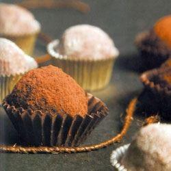Palline di cioccolato e nocciole