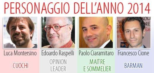 Montersino, Raspelli, Ciaramitaro e Cione i Personaggi dell'anno 2014