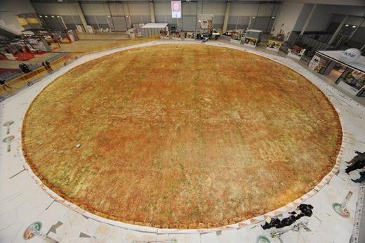 Pizza senza glutine più grande del mondoL'Italia batte il record con