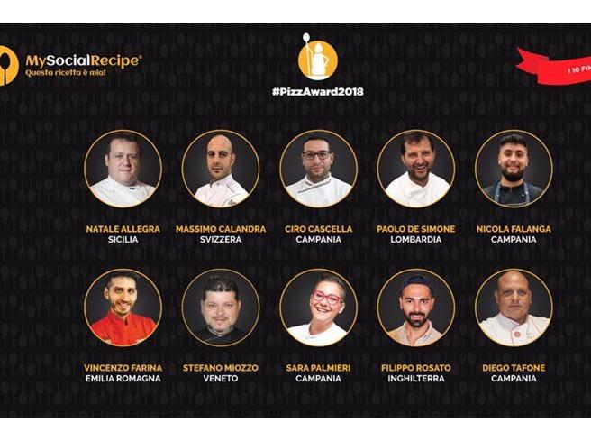 #PizzAward 2018, svelati i 10 finalisti Ci sono uno svizzero e un britannico