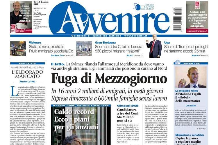 """Premio Ferrari ad Avvenire """"Copertina dell'anno"""" a Millennium"""