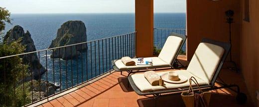 Il punta tragara presenta unica nuova spa dell hotel di for Vista sulla valle cabine colline hocking