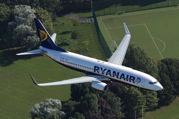 Ryanair vola alto A luglio 14,8 milioni di passeggeri