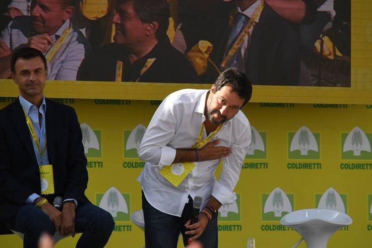 Salvini al Villaggio Coldiretti «Mangiate e bevete italiano»