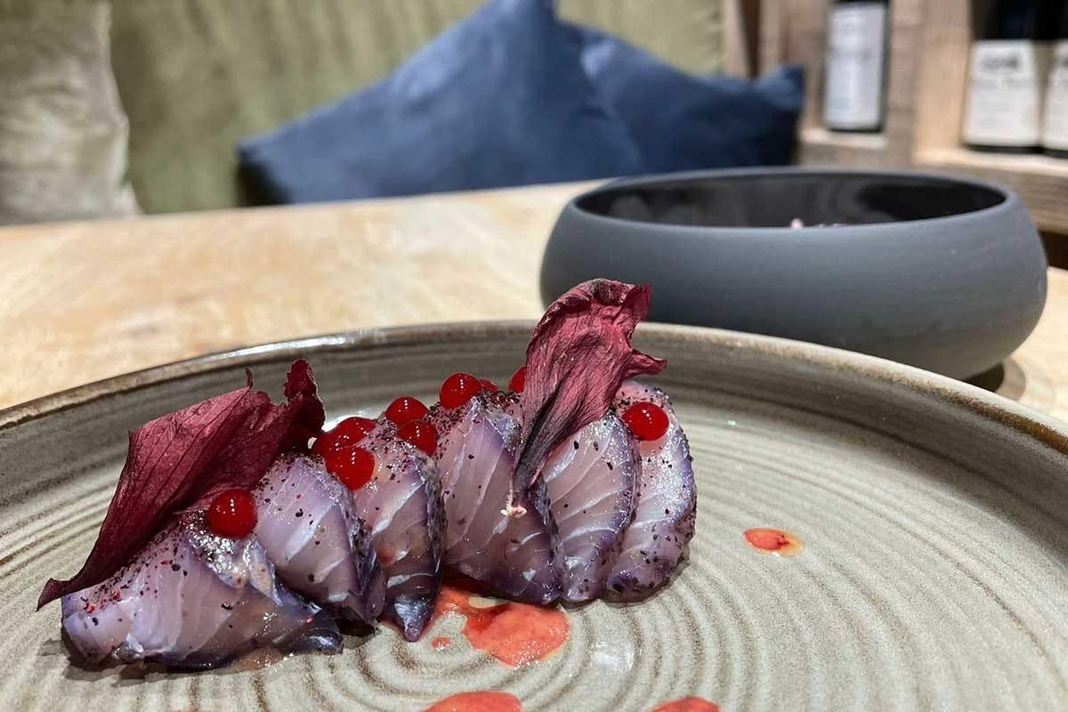 Sashimi di karkadè Fiori
