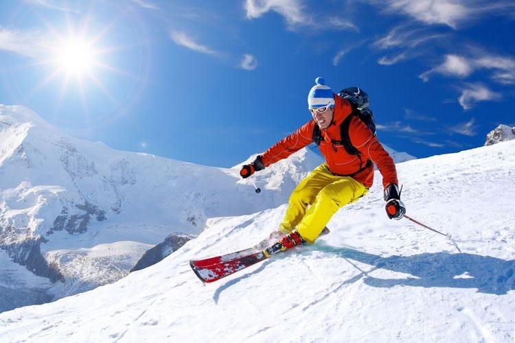 Lo sci richiede allenamento Tanta ginnastica per essere in forma