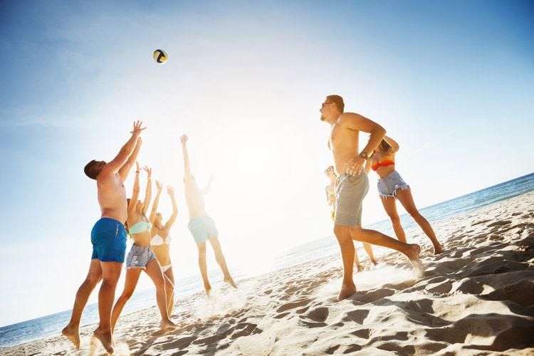 Sport da spiaggia Attenzione alle ginocchia