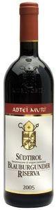 Alto Adige Blauburgunder/Pinot nero riserva Abtei Muri Doc di Muri Gries