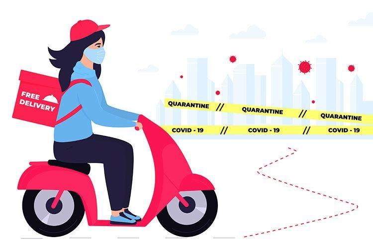 Takeve, il delivery al femminile. Rider assunte e tanta sicurezza